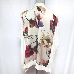 Ted Baker Floral Short Sleeve Open Cardigan